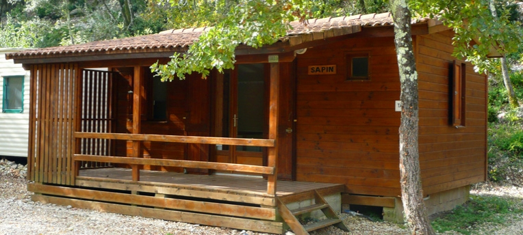 Chalet camping naturiste