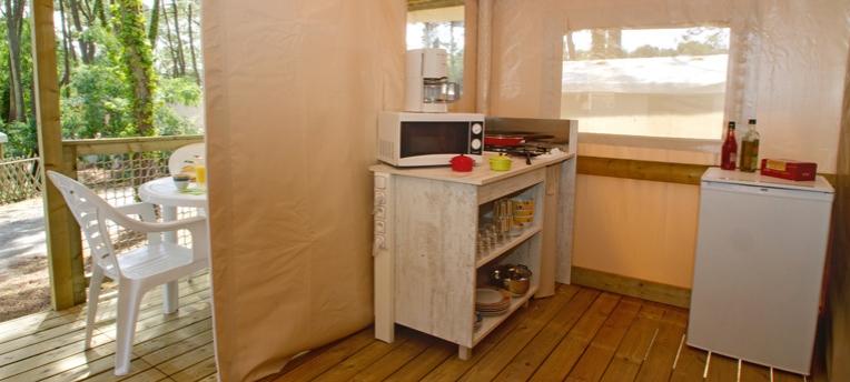 Vacances naturistes en tente Ecolodge