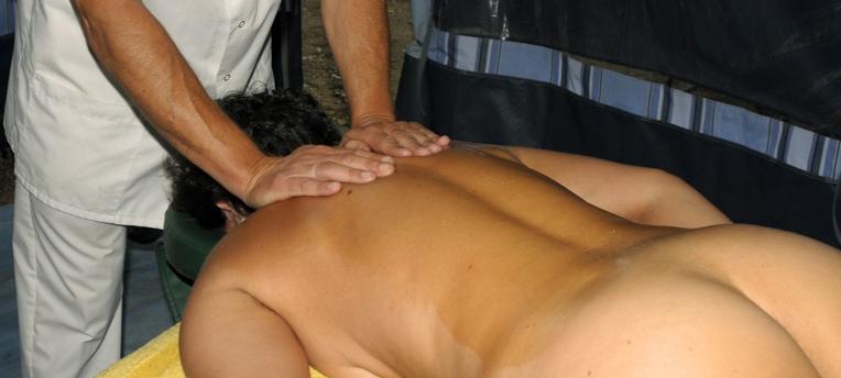 Massage en camping naturiste